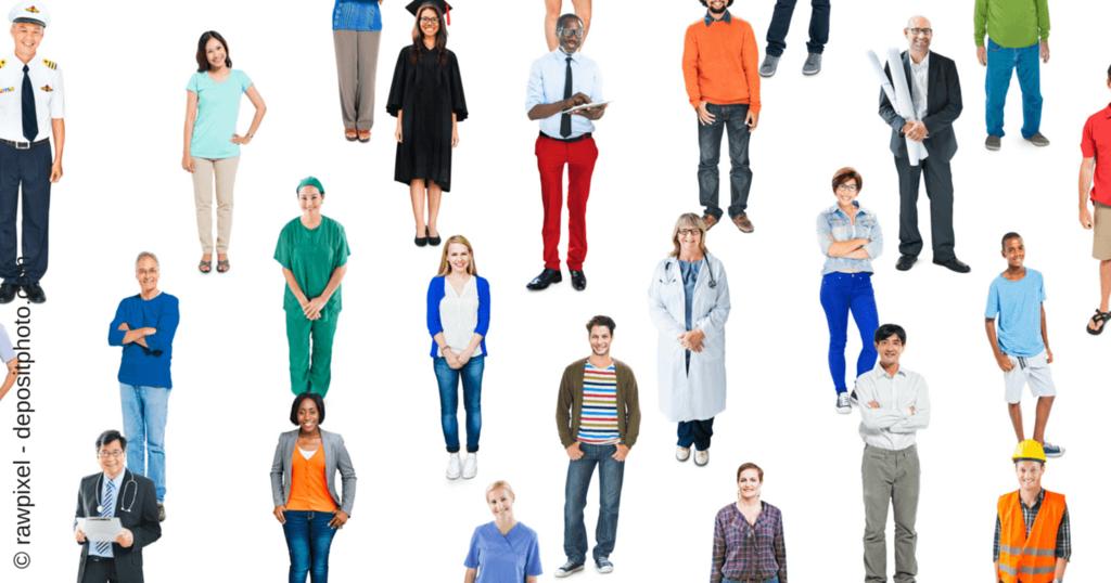 Corporate Identity für Solopreneure - Bild mit vielen Menschen
