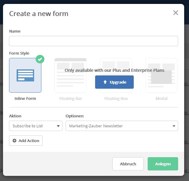 In ActiveCampaign ein Formular anlegen