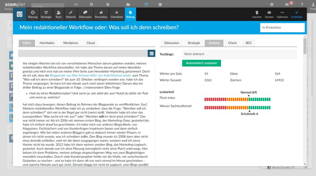 Redaktioneller Workflow: Check der Lesbarkeit in Scompler