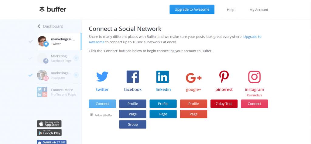 Netzwerke, die von Buffer gesteuert werden können