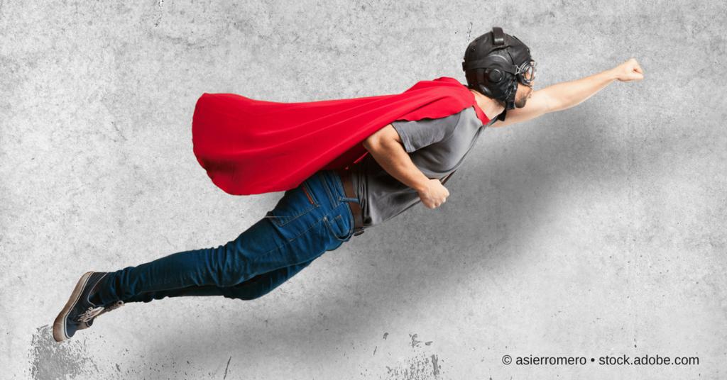 Superheld im Flug - Podcast Helden Konferenz