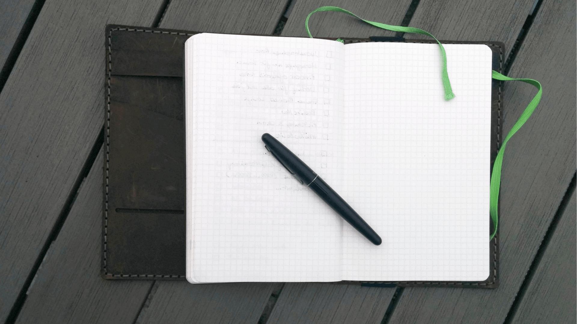 Deen für Blogbeiträge in einem EverNote Notizbuch festhalten - Foto