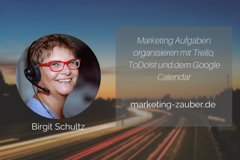 Marketing Aufgaben organisieren