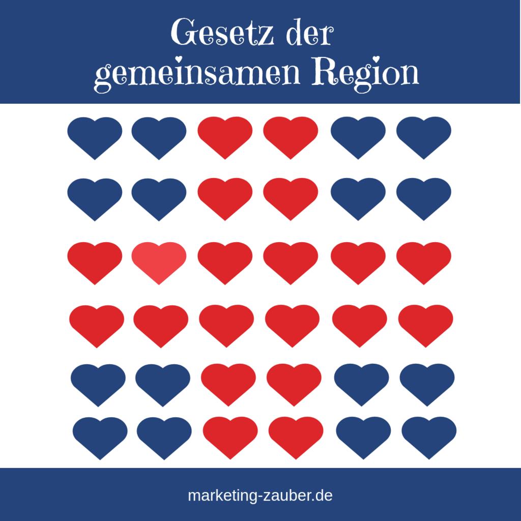 Gestaltgesetze - Gesetz der Gemeinsamen Region