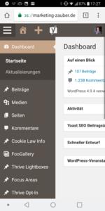 Marketing ohne Schreibtisch - WordPress