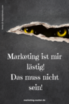 Pinterest Grafik zu Marketing-Mindset mit Monster-Augen