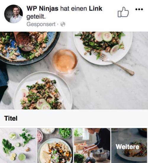 Facebook Ads - Sammlungs-Anzeige