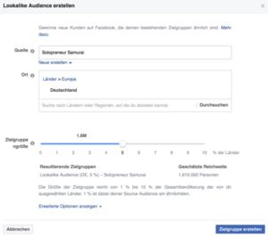 Lookalike Audiences für Facebook Anzeigen erstellen